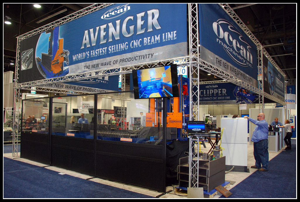 Ocean Machinery's booth at the 2012 Fabtech Show in Las Vegas