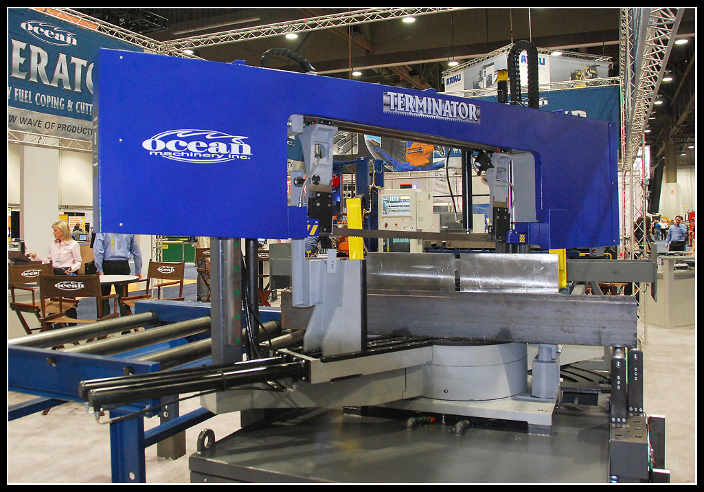 The all new Ocean Terminator DCM 1825 dual column double mitering band saw