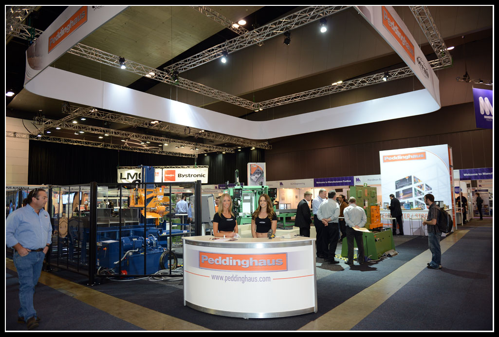Ocean and Peddinghaus share the booth with new Australian dealer Impact Machinery