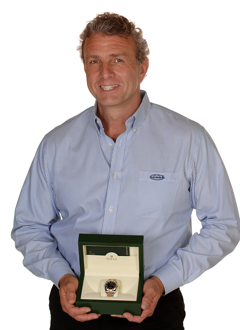 Darryl Thornhill, National Sales Manager receives his Rolex for his 10 Years of exceptional service to Ocean Machinery