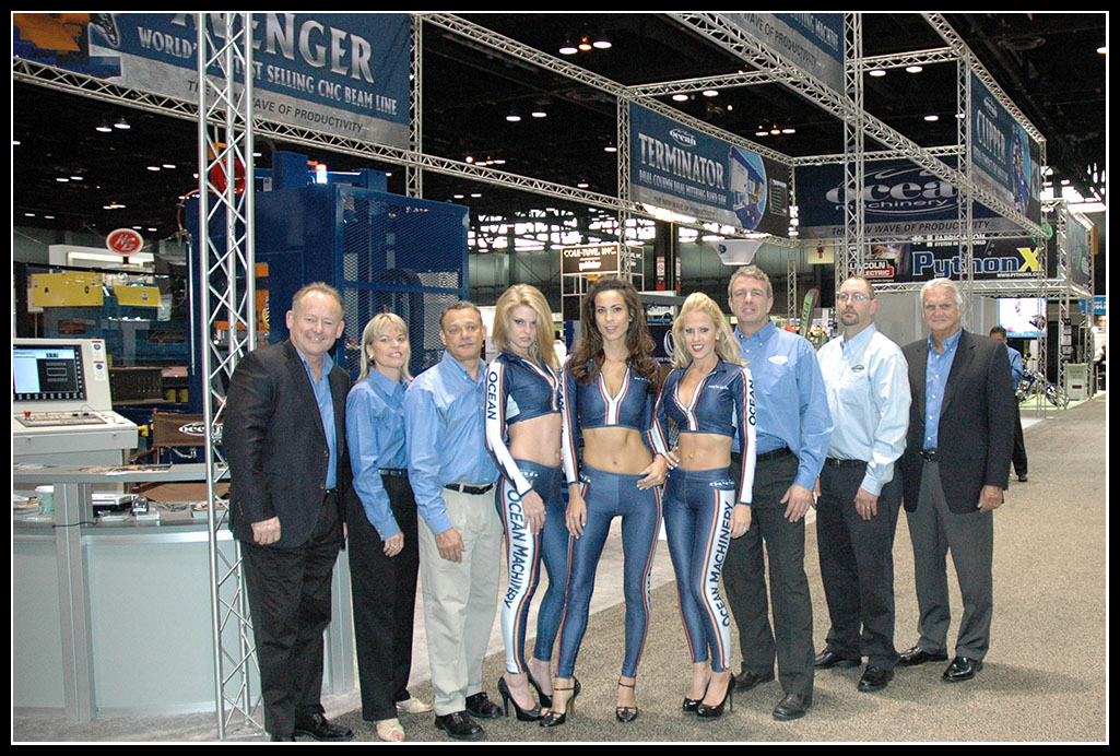 The Ocean Machinery team at the recent Fabtech tradeshow in Chicago