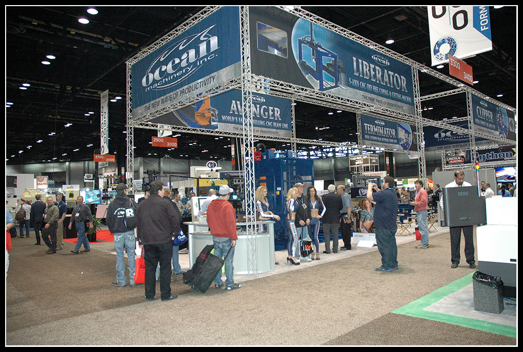 Ocean Machinery's extensive booth captured the attention of fabricators each and every day!