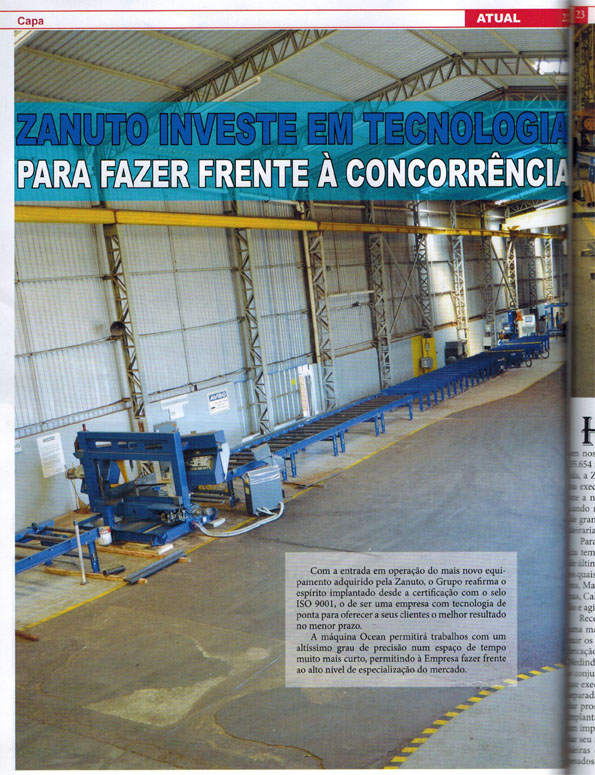 Ocean Avenger Brazilian magazine cover story