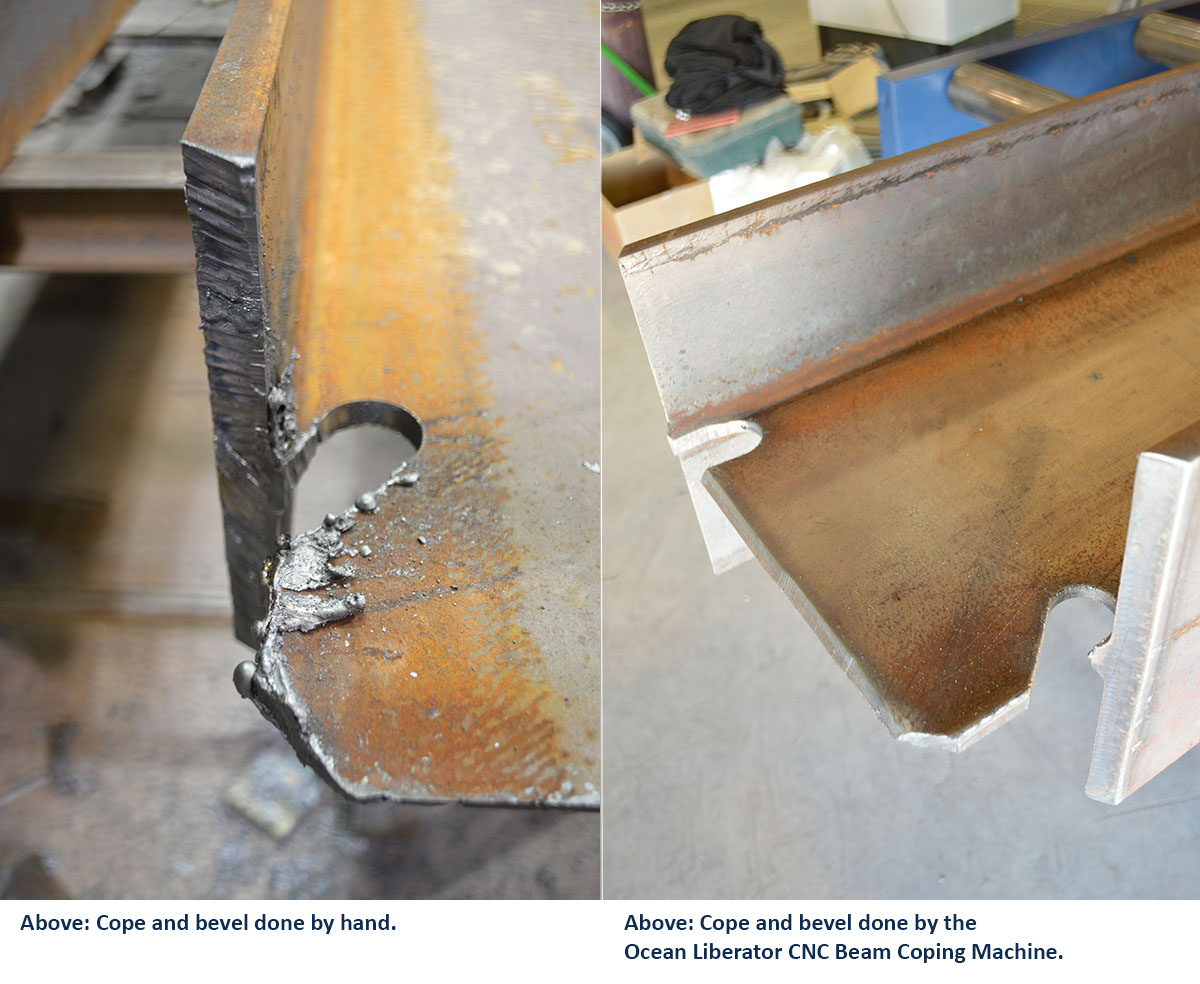 CNC beam Coping vs manual coping