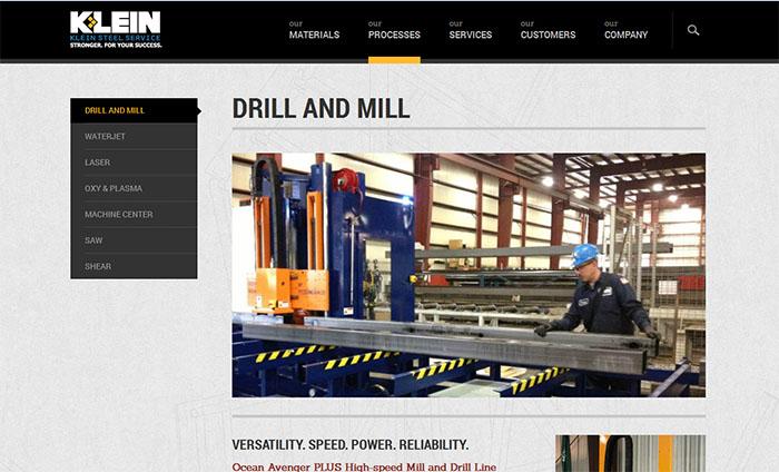 CNC beam drill line