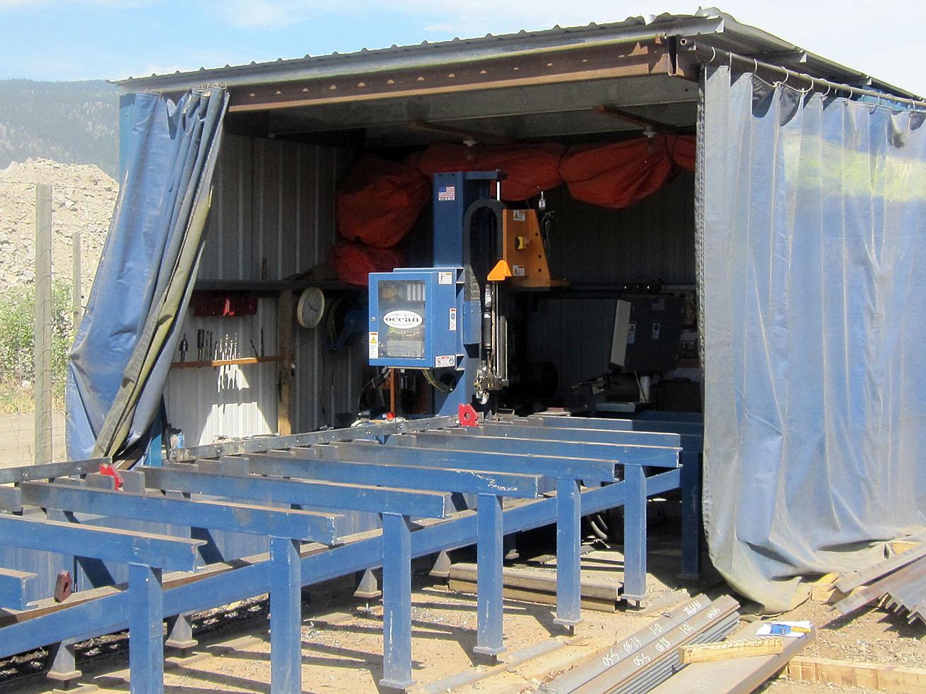 Compact Ocean Avenger CNC Beam Drill Line