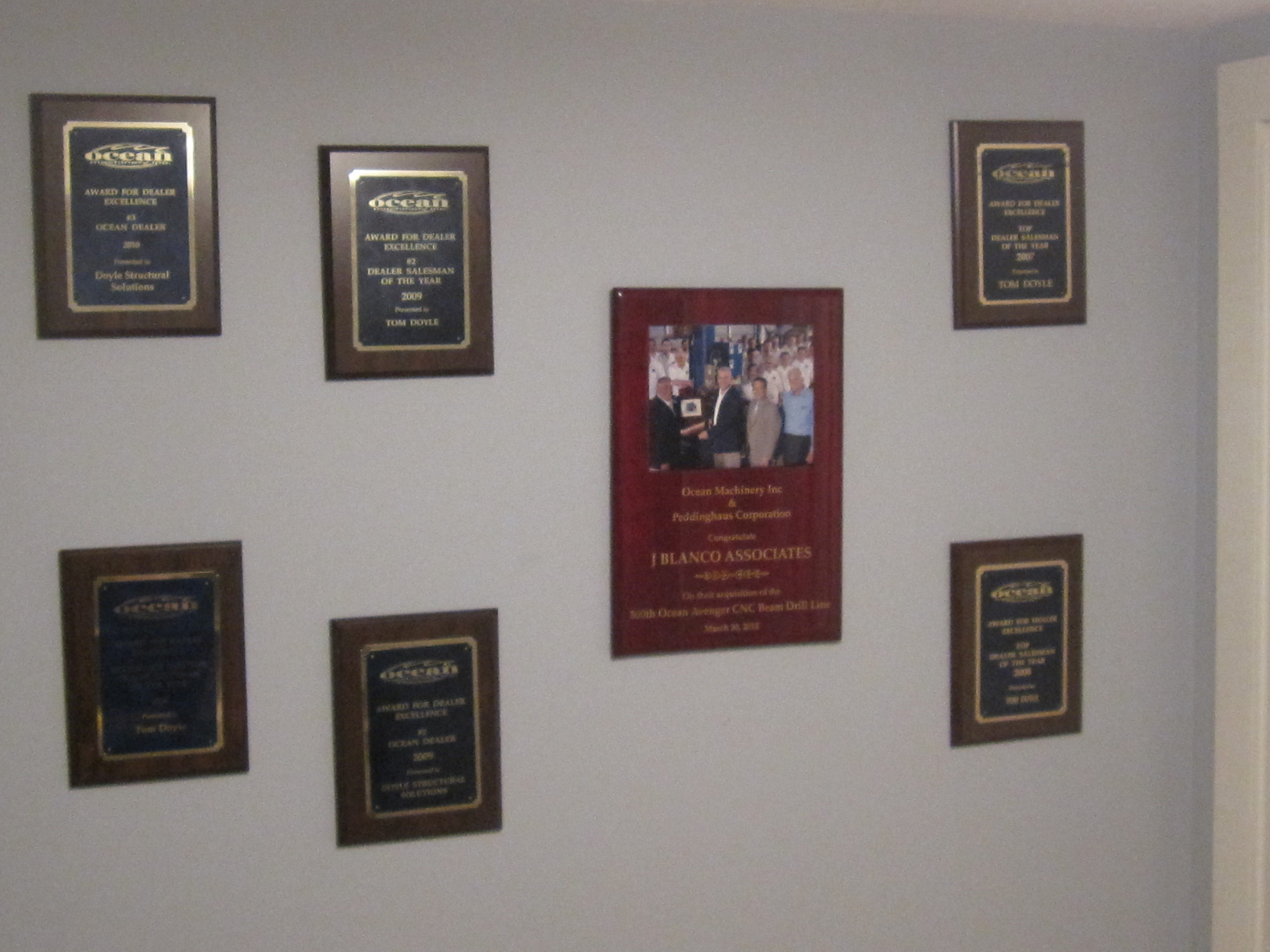 Doyle Structural Solutions is a TOP Dealer! Look at all those Ocean Machinery
