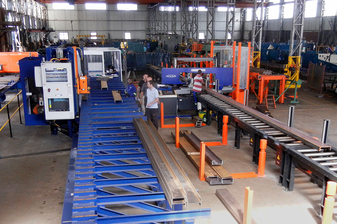 AvengerPLUS CNC Drill Line installed with Terminator DCM-18/25 Band Saw