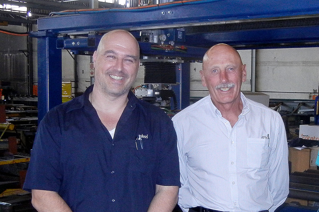 1.Michael Papanicolaou of Union Steel with Ray Chellew of Skok Machine Tool