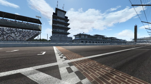 The famous bricks of Indianapolis Motor Speedway