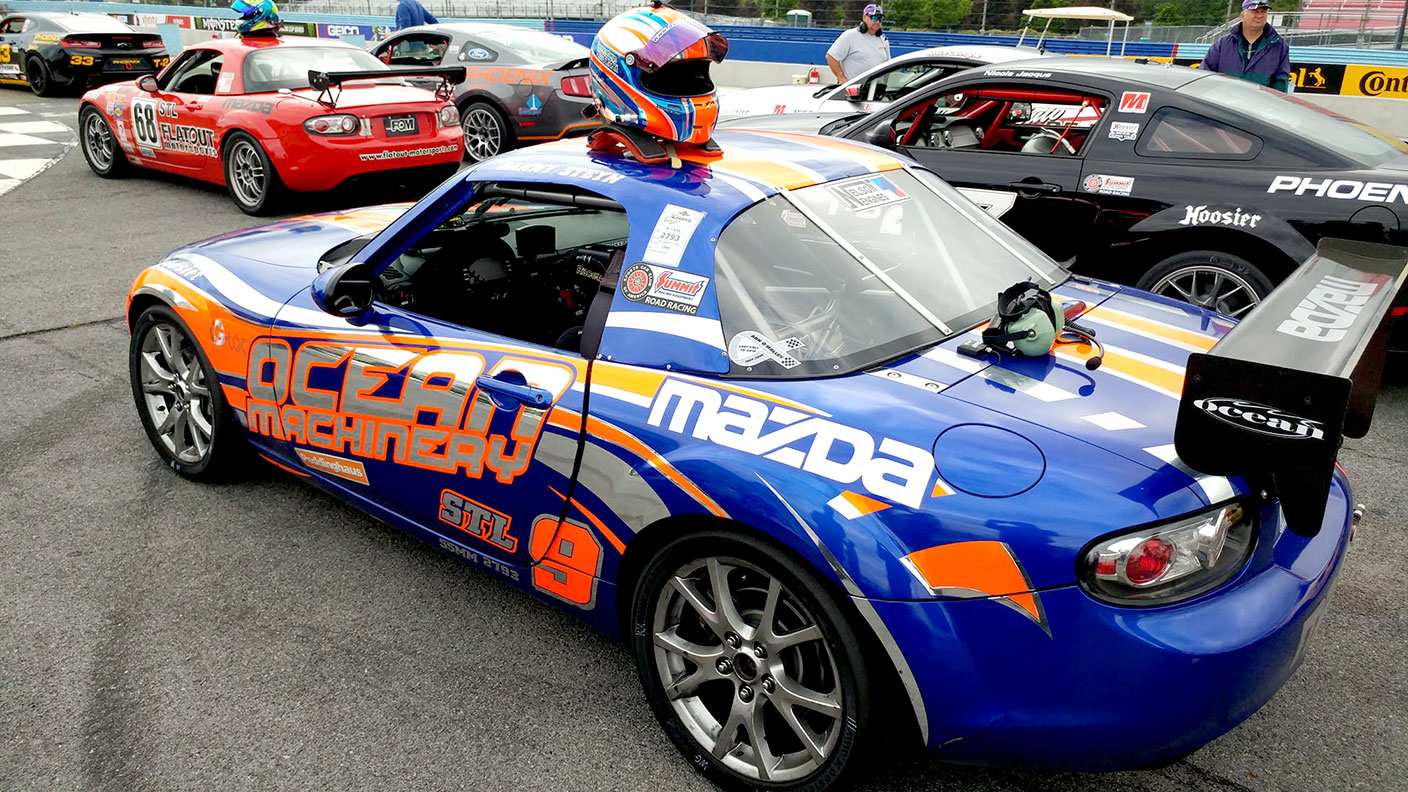 Another weekend, another win for the Ocean Machinery Mazda MX-5 STL car