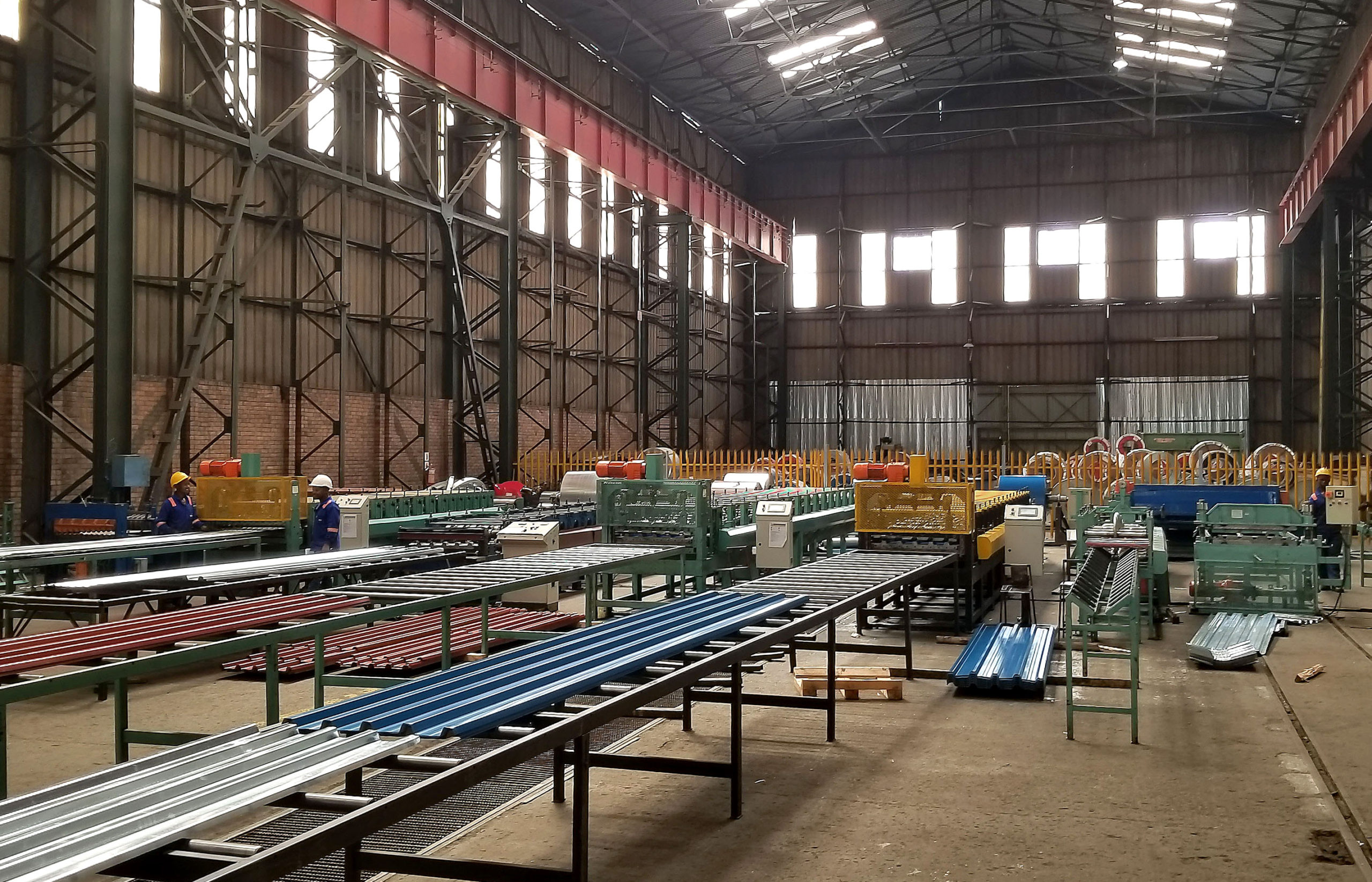 Roofing manufacturing lines at Pump and Steel Supplies