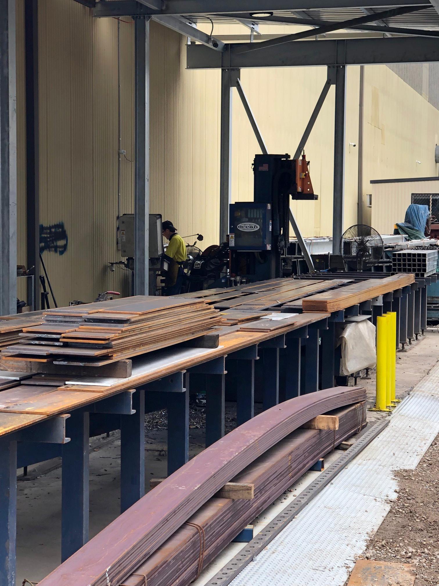 Steel Builders is now producing 80 tons of light steel per day