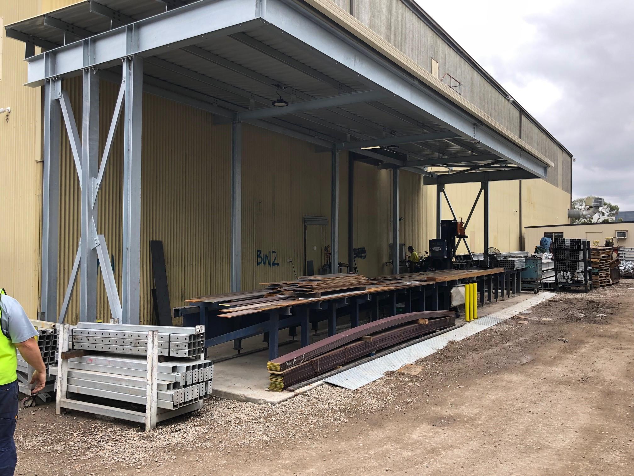 Avenger CNC Beam Line at Steel Builders - Sydney, Austalia