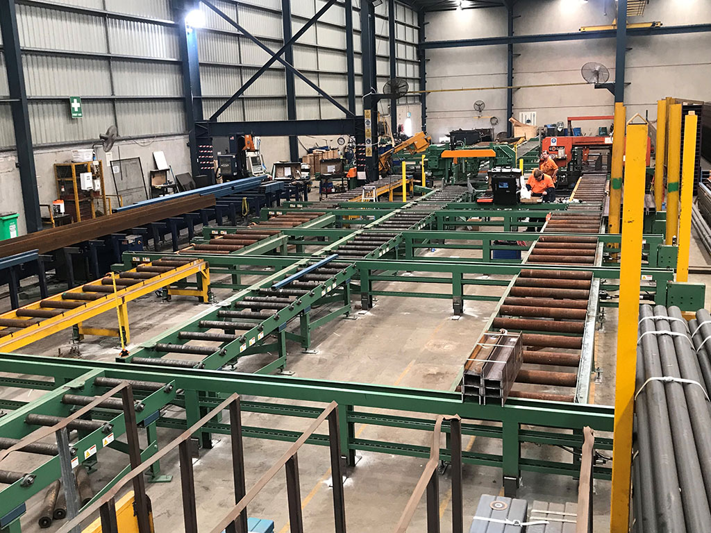ocean avenger cnc drill line with cross transfers