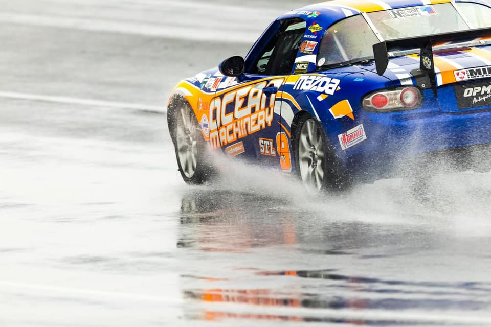 Danny Steyn wins the Super Touring Lite Class at the 2021 SCCA Runoffs at Indy